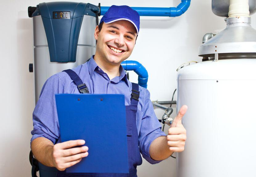 Plumber With Water Heater