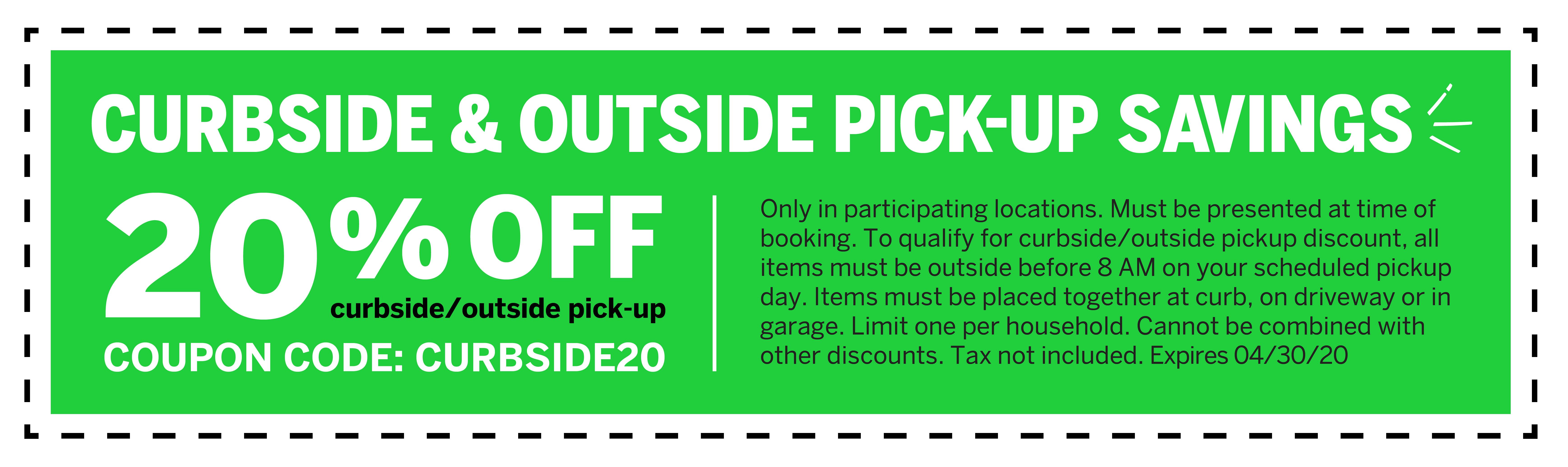 Curbside Pickup Deal