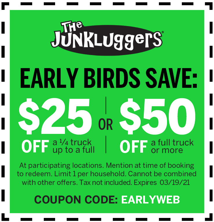 Friends & Family The Junkluggers | Spread love, share savings, and lug more!