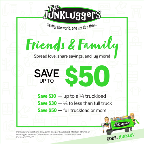 Friends & Family The Junkluggers   Spread love, share savings, and lug more!