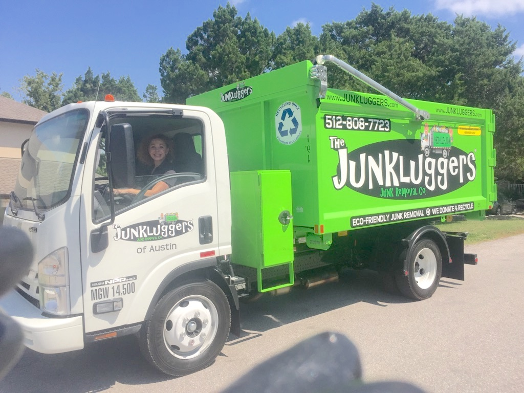 Chavez in a Junkluggers' truck
