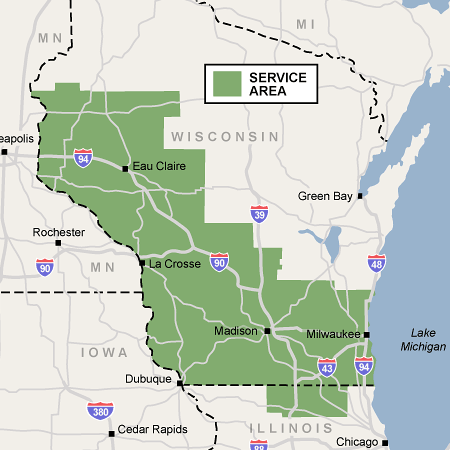 Wisconsin Waterproofing, Foundation Repair Service Area