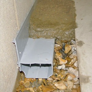 French drain system installed in Charlottetown, PE