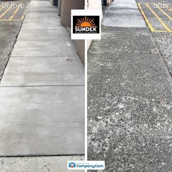 SUNDEK sidewalk resurfacing before and after