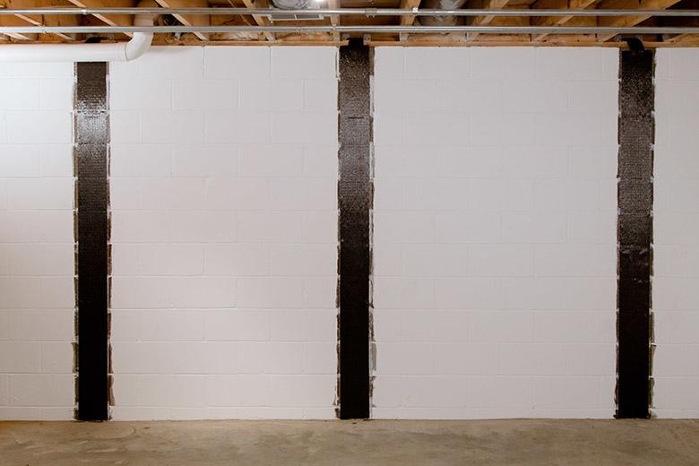 Proven repair for bowing, cracked basement walls