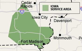 Iowa Service Area