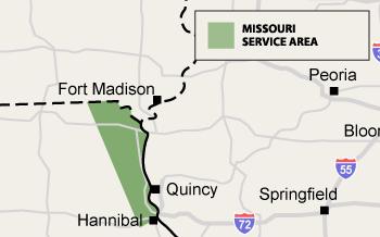 Missouri Service Area