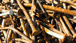 rusty nails show health problems