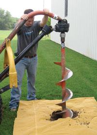 Hickory, North Carolina Contractor Installing Foundation Wall Anchors