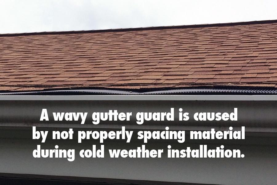 Cold Weather Installation Tip - Space Gutter Guards