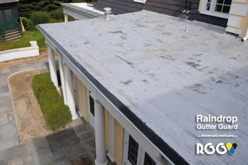 5 inch K-style Gutters, Flat Roof and Gutter Guards