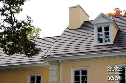 Extra Large Gutter Guard On Slate Roof