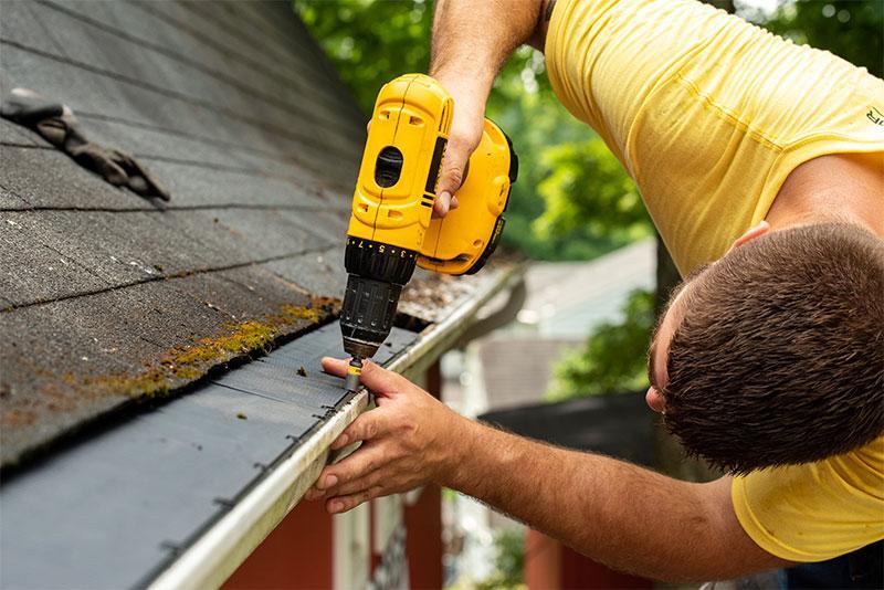 Contractor Installing Raindrop