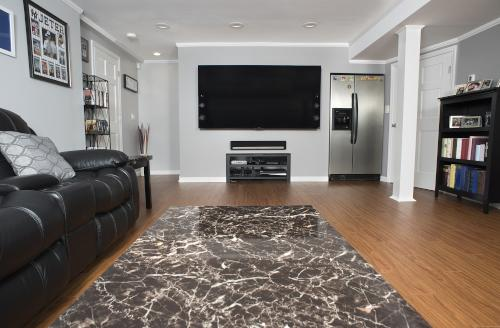 After basement finishing in Greater Newark