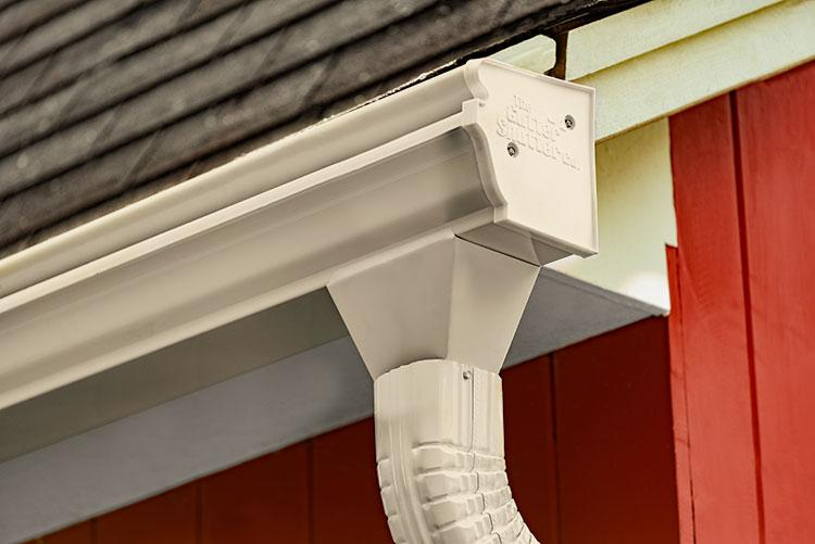 Almond Colored Gutter