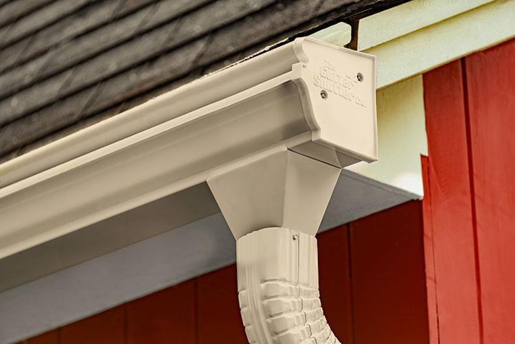 Antique Ivory Colored Gutter