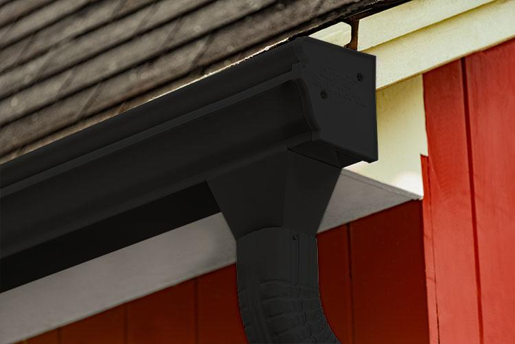 Black Colored Gutter