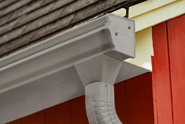 Dove Grey Colored Gutter