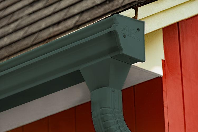 Forest Green Colored Gutter
