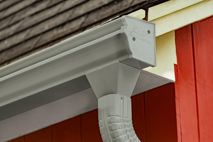 Pearl Grey Colored Gutter