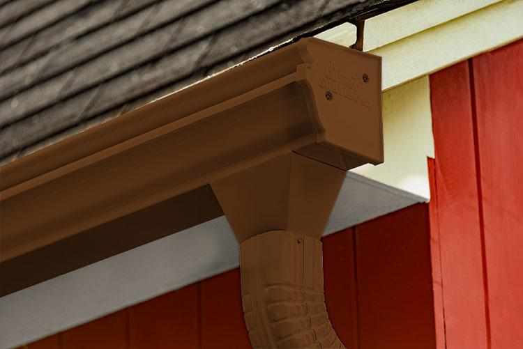 Royal Brown Colored Gutter