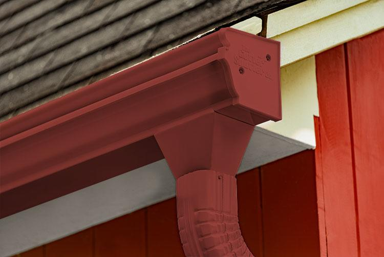 Scotch Red Colored Gutter