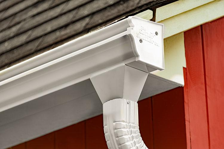 White Colored Gutter