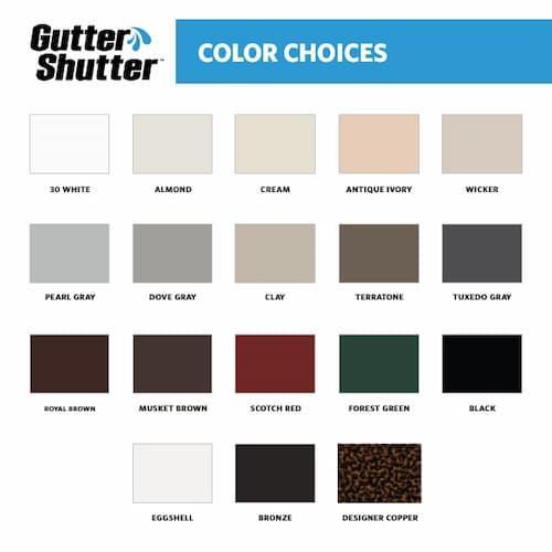 Gutter Shutter Gutter Colors
