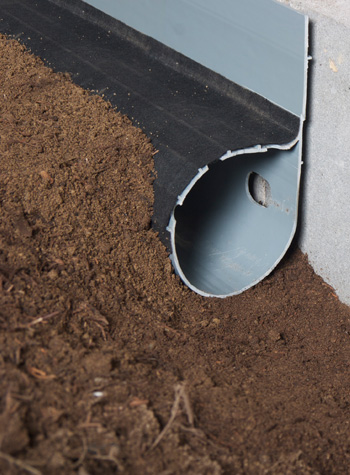 crawl space drainage system in Wolfville