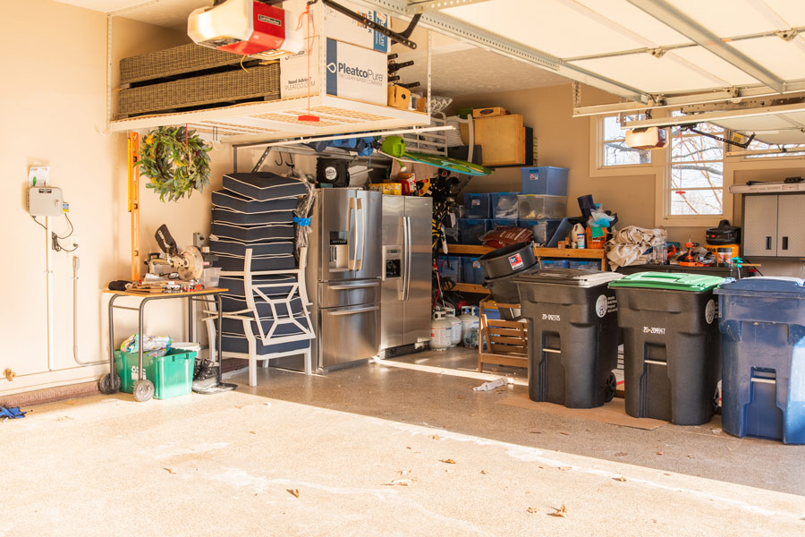 Cluttered Garage Before Image