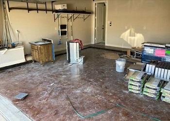 Before Garage Floor Refresh in McKinney, TX