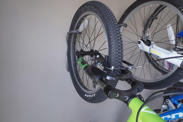 Bicycle racks give you more room by letting you store the family bikes on the garage wall.