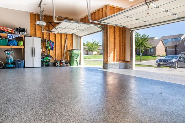 It's amazing how a new floor will transform a garage.