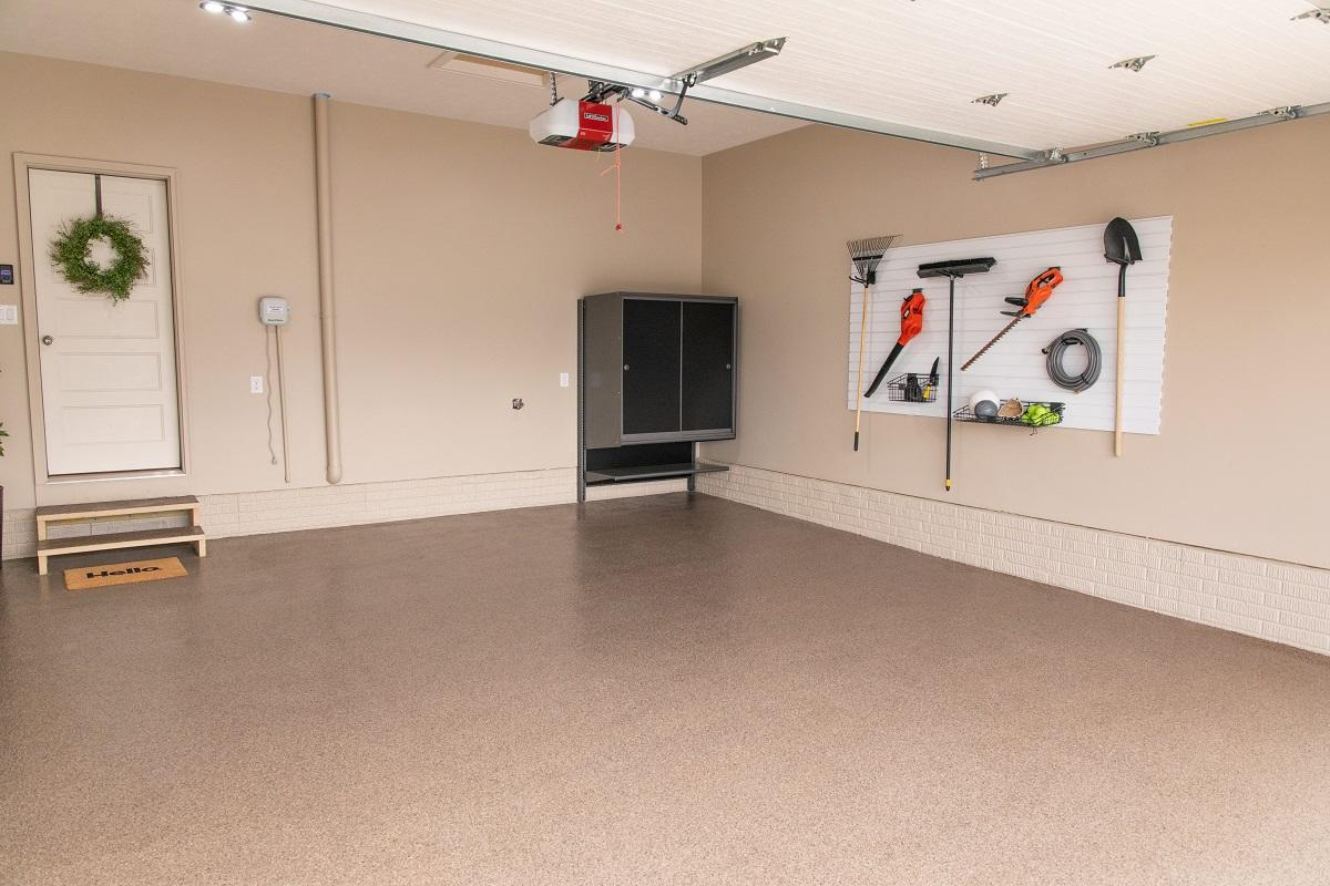 With a new Hello Garage floor, you can basically add a new room to your home.