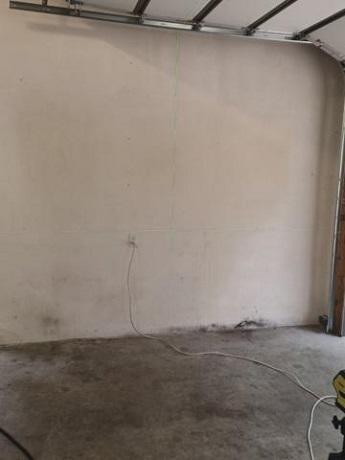 Before Garage Floor Coating in Shiloh, Illinois
