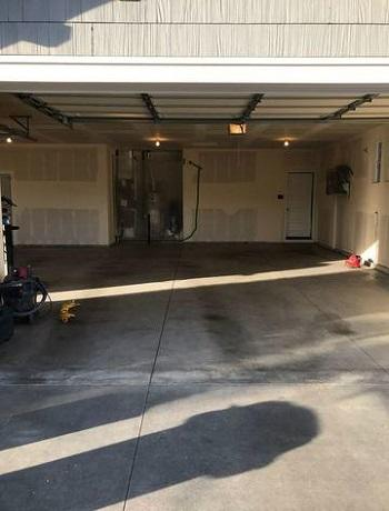 Before Garage Floor Makeover in Meridian, Idaho