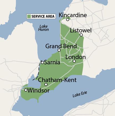 Coverage Area: Southwestern Ontario