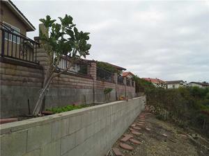 Damaged retaining wall in San Pedro