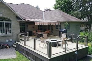 Aluminum deck installation offered by DBC Remodeling & Construction