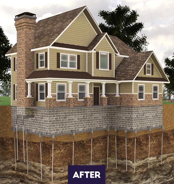 After Foundation Piers in Greater Atlanta