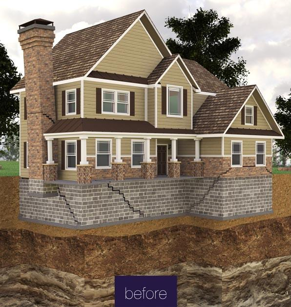 Before Foundation Piers in Greater Atlanta