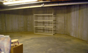 BEFORE: This spacious basement was seriously underutilized.
