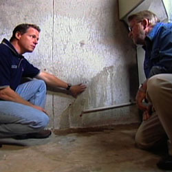 inspecting a basement before finishing
