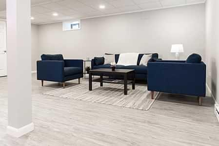 Living space in a finished basement