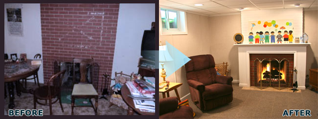 Lincoln, NE basement finishing transformation