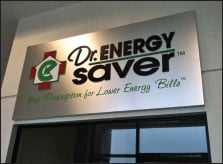 Dr. Energy Saver Building Sign