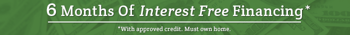 6 months of interest free financing