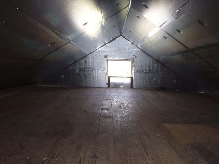 Attic Insulation in Georgetown, Delaware with SuperAttic insulation System.