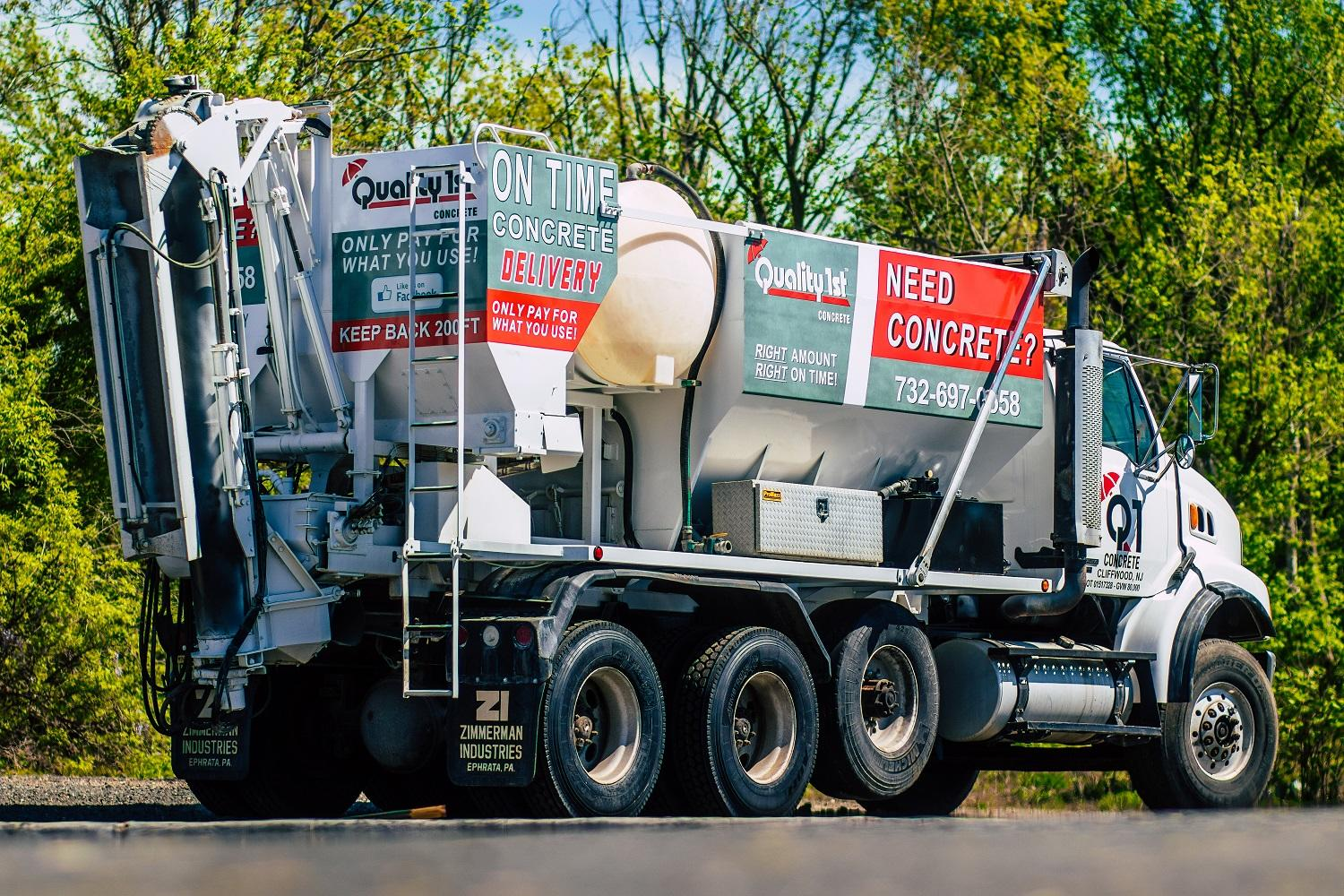 Delivering concrete in New Jersey