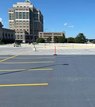 Roof Parkinglot Painting in Connecticut
